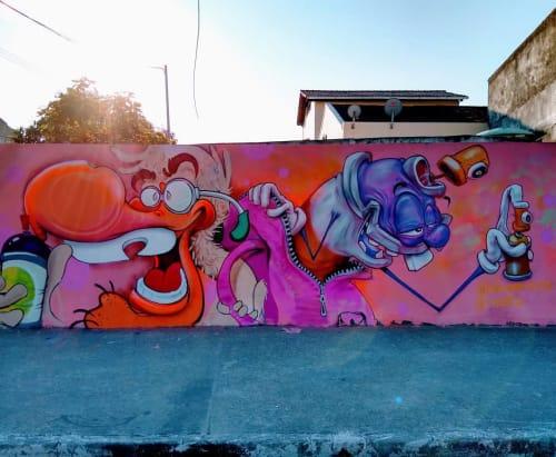 Street Murals by iori graffiti seen at Rio de Janeiro, Rio de Janeiro - Graffiti Mural