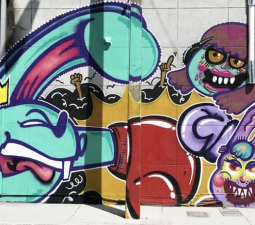 Murals by LULUKATHULU seen at Punch Elite Fitness, Miami - Boxing is Fun