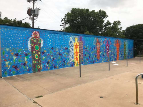 Murals by Brett Dyer seen at Irving Family YMCA, Irving - YMCA Primavera Mural
