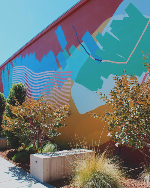 Murals by Heather Day seen at Provenance Vineyards, Saint Helena - Exterior Mural