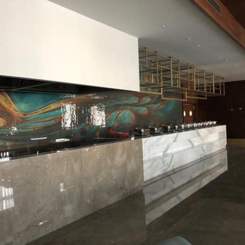 Wall Treatments by mutaforma seen at Rocks Hotel & Casino, Kyrenia - Glass mosaic wall covering