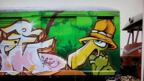 Street Murals by Duktus seen at Berlin, Berlin - Graffiti