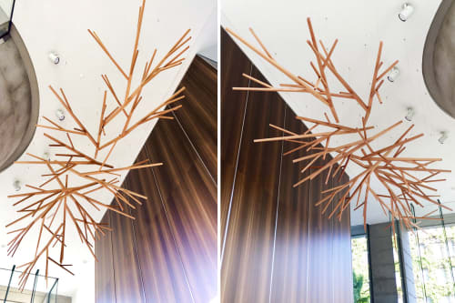 Sculptures by Propellor Studio seen at 1919 Beach Ave, Vancouver - Eugenia Place Suspended Lobby Sculpture