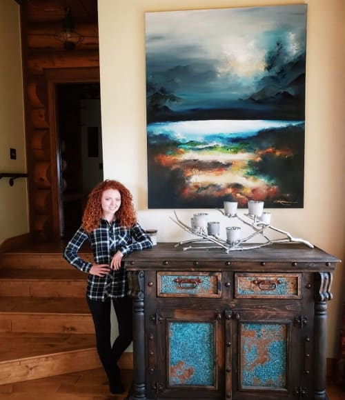 Paintings by Kendra Neal Art seen at Shadow Creek Ranch, Silverthorne - Dauntless