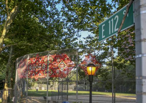 Public Sculptures by Capucine Bourcart seen at Thomas Jefferson Park, New York - LINOUQ