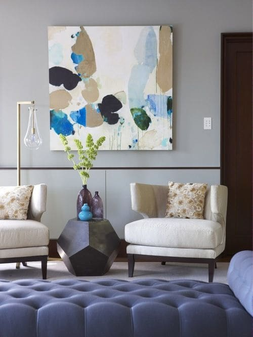 Paintings by Meredith Pardue seen at Private Residence, Boston - Pods Series