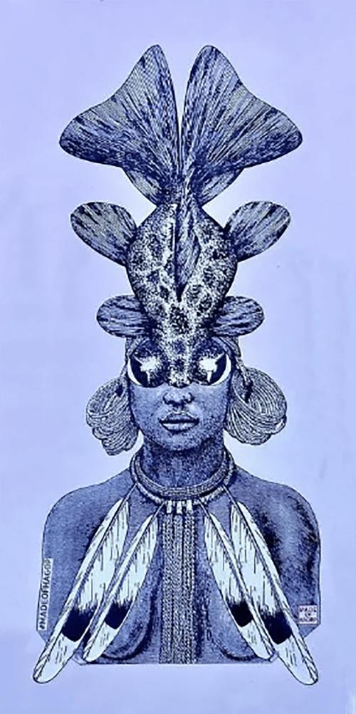 Murals by Made of Hagop seen at Light on Lotus, Los Angeles - Atlantis