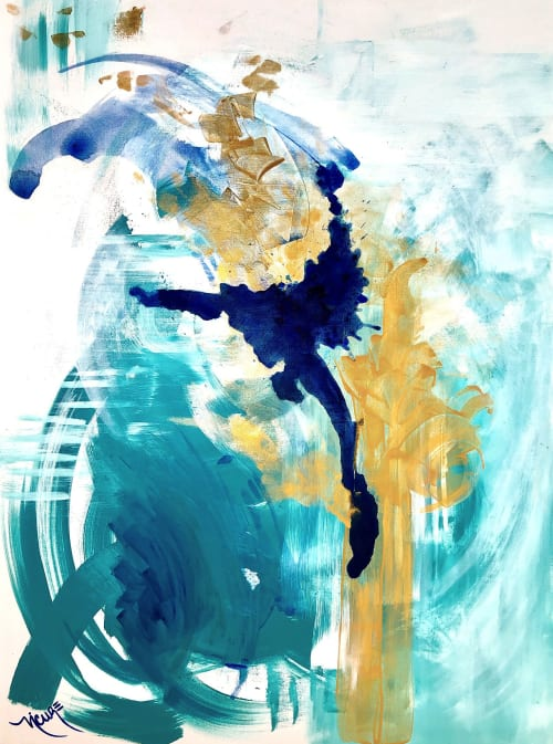 Paintings by Nicolle Cure seen at Private Residence, Miami - The Eighth Month