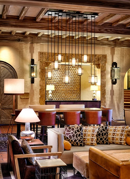 Chandeliers by Laspec Lighting -- Custom Lighting, Made in LA at Fairmont Sonoma Mission Inn & Spa, Sonoma - Hanging Lights Sonoma