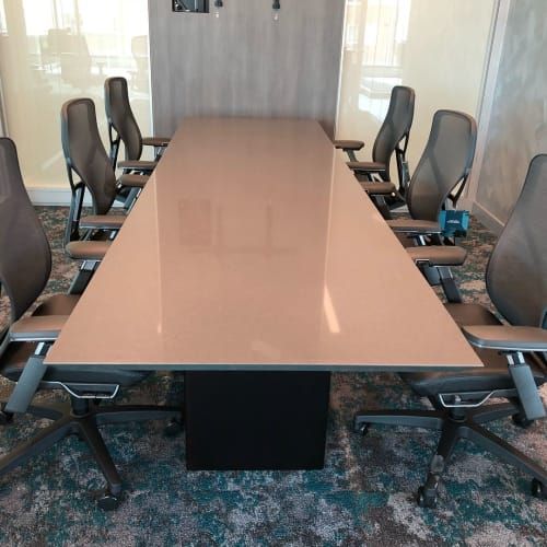 Tables by Coriander Designs seen at Coldwell Banker Bain, Bellevue - Quartz Conference tables