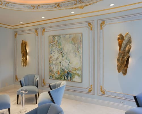Sconces by Ron Dier Design seen at Private Residence, Newport Beach - Ayers Wing Wall Sconce