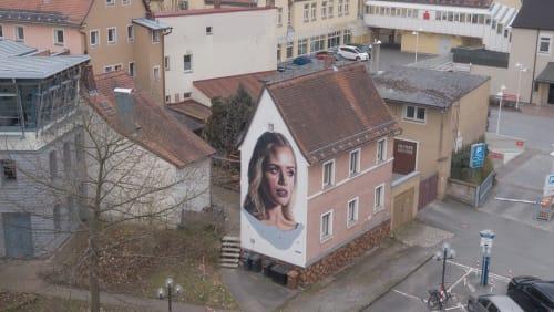 Street Murals by Drew Merritt seen at Bayreuth, Bayreuth - Elisabeth Friederike Sophie von Brandenburg-Bayreuth