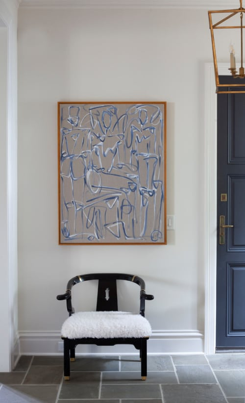 """Paintings by Haley Mathewes seen at Private Residence, Charlotte - """"Lagos V"""""""