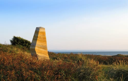 Public Sculptures by Briony Marshall Sculptor seen at Hengistbury Head, Bournemouth - Layers of Bournemouth