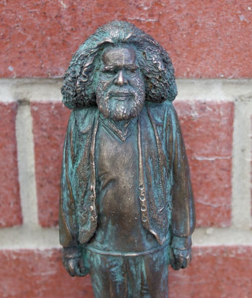 Sculptures by Leonie Rhodes seen at Fortitude Valley, Fortitude Valley - 'Uncle Jack Charles' Bronze Green Patina
