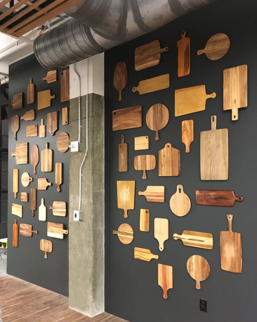 "Wall Treatments by ANTLRE - Hannah Sitzer seen at Turner Broadcasting System Inc, Atlanta - ""Cuttingboards"""