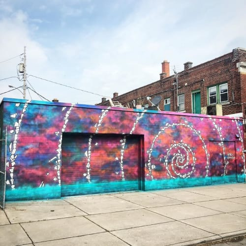 Street Murals by norm4eva seen at Hertel Alley, Buffalo - Hertel Mural