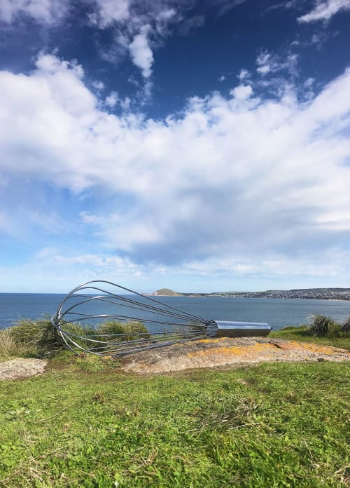 Public Sculptures by Gavin Younge Studio seen at Granite Island - Curating the Waves
