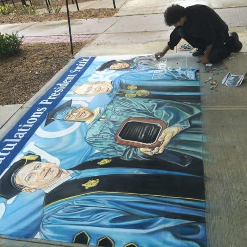 Murals by Hani Shihada seen at Berkeley College Woodland Park Campus, Woodland Park - Hani Shihada