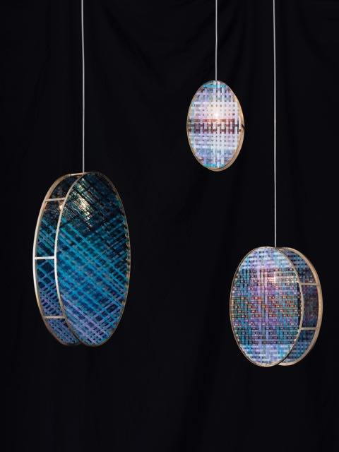 Lamps by Gustav van Treeck Studios with edition van Treeck seen at Artist Studio, Munich - Woven Glass by edition van Treeck