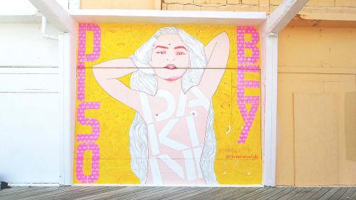 Murals by Michela Martello seen at Fulton Ferry District, Brooklyn - Magico Atomo