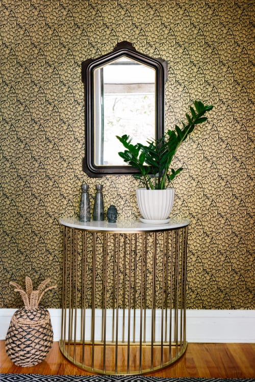 Wallpaper by Relativity Textiles at Private Residence, Chicago - Gaar Black