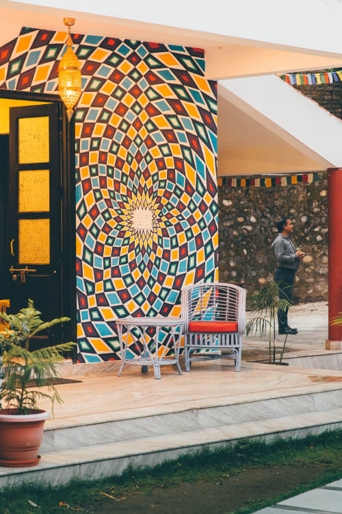 Street Murals by Maureen Walsh seen at Sattva Retreat, Jogiyana - Expansion