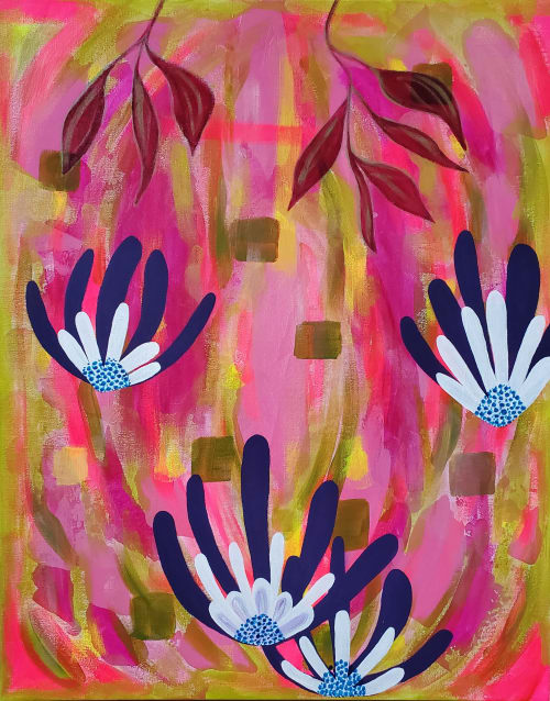 Paintings by Tina Mokuau seen at Private Residence, Reno - Joy