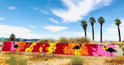 Flamingo mural | Street Murals by Shaggy | Desert Diamond Casino - West Valley in Glendale