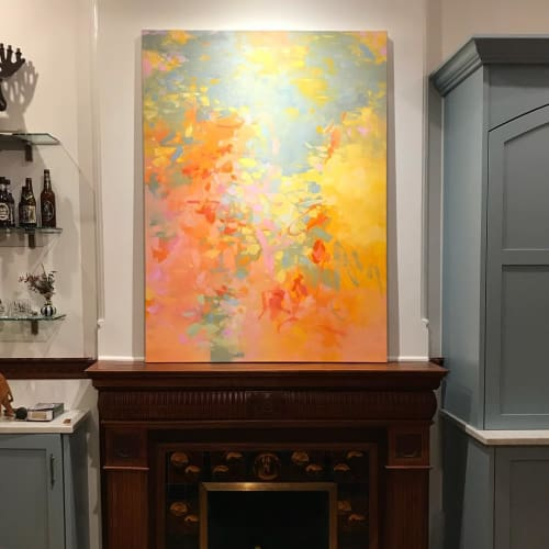 "Paintings by Cameron Schmitz seen at Private Residence, New York - ""Shimmer"""