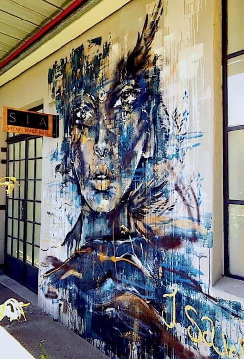 Street Murals by Ana Kuni seen at Woodstock, Cape Town - Woodstock Mural