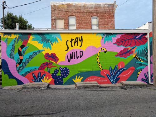 Murals by Studio K8Ki seen at Elkader, Elkader - Stay Wild