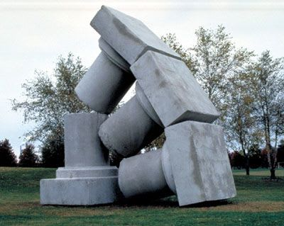 Public Sculptures by Thomas Skomski seen at University of Illinois at Springfield, Springfield - Impermanent Column