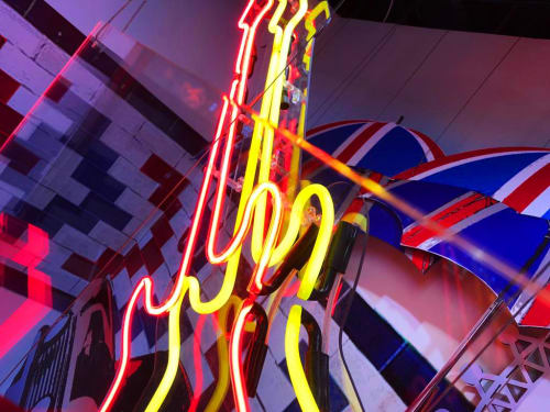 Lighting Design by Kemp London seen at Hard Rock Cafe, Las Vegas - NEONPLUS - NEON EFFECT LED