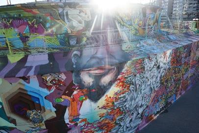Street Murals by Ruskig Ångest seen at Slussen, Södermalm - Objectivity