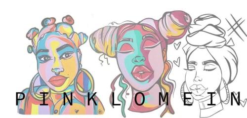 Pinklomein - Murals and Art