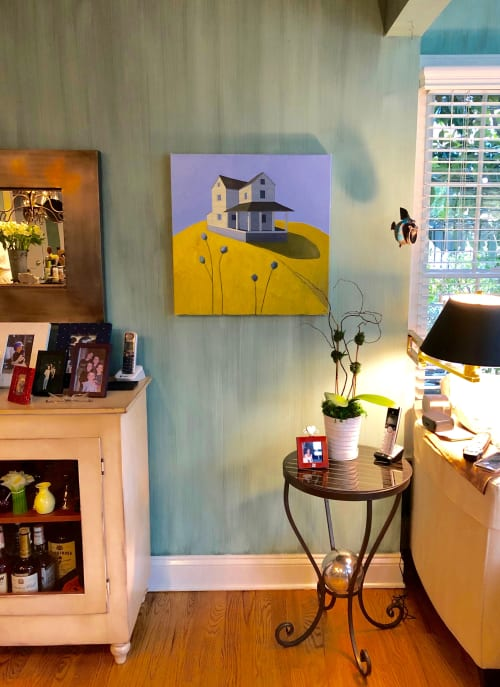 Paintings by Scott Redden seen at Private Residence, Red Bank - 'Blue Flowers' original oil painting by Scott Redden