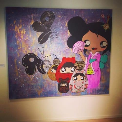 "Paintings by Amanda Beardsley seen at Washington DC, Washington - ""Butterfly Charmers"""