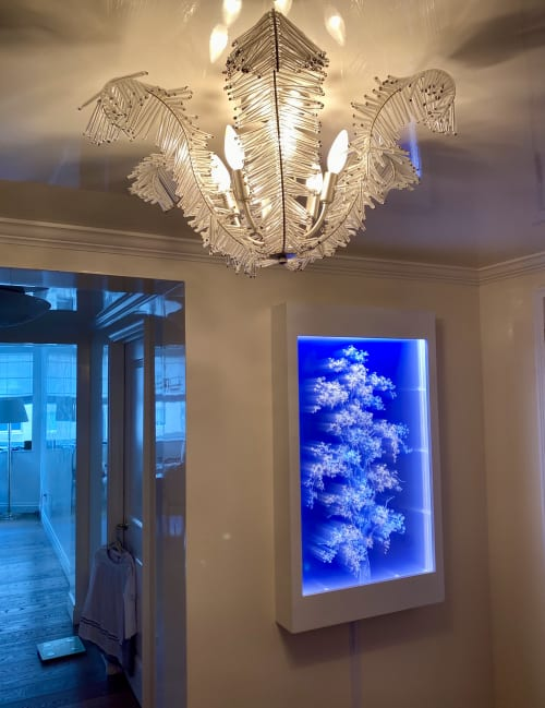 "Art & Wall Decor by Tatyana Murray / Tatyana INC seen at Private Residence, New York - ""TREE OF LIGHT"",  Refracted Light Series"