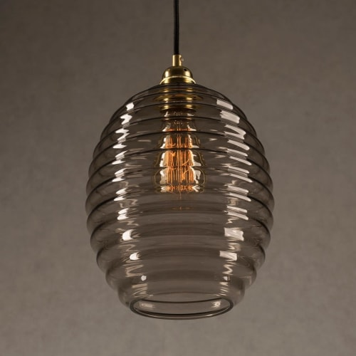 Pendants by Embassy interiors seen at New York, New York - Smoked Glass Bee Hive