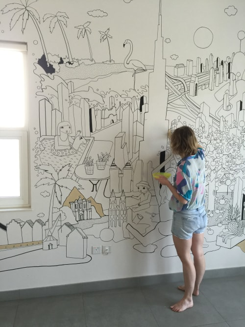 Murals by Emma Rytoft seen at Private Residence, Dubai - International family
