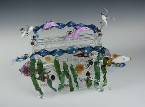 Sculptures by Bandhu Dunham seen at Private Residence, Dallas - Ocean Commotion #2