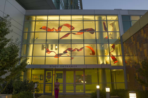 Sculptures by John Rose seen at Children's Hospital Los Angeles, Los Angeles - Ribbons of Hope