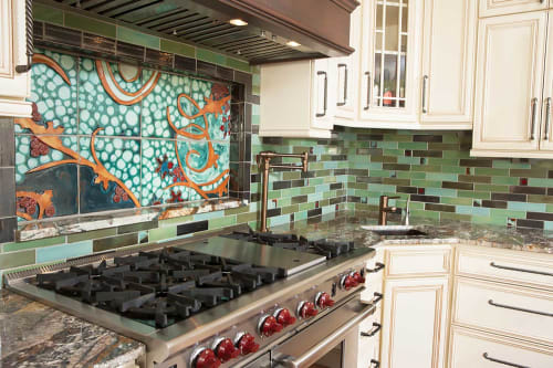 Tile Mural Kitchen Backsplash By Clay Squared To Infinity Seen At Private Residence Minneapolis Wescover