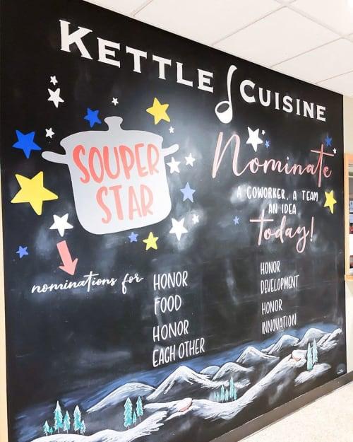 Art & Wall Decor by Chalk Boss seen at Kettle Cuisine - Everett, Everett - SOUPER Chalkboard Art