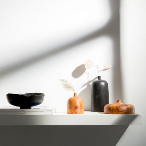Vases & Vessels by Whirl & Whittle seen at Creator's Studio, Ottawa - Nia Pancake In Yew