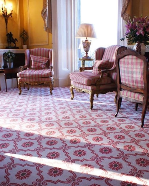 Rugs by Gaskell Mackay seen at Inverlochy Castle Hotel, Torlundy - Inverlochy Castle Hotel