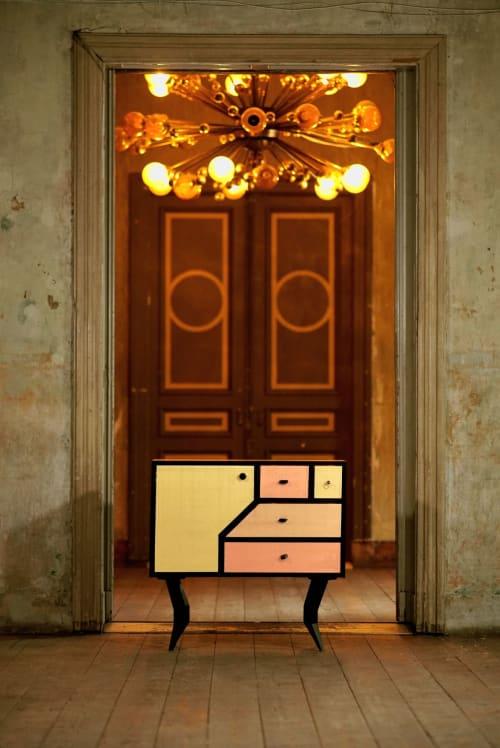 Interior Design by Kanttari seen at K.K. fon Stricka villa, Rīga - Sideboard Hundertwasser 100H2O