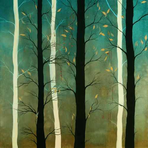 Paintings by Ivy Jacobsen seen at Woodruff Sawyer, San Francisco - Black and White (Trees)