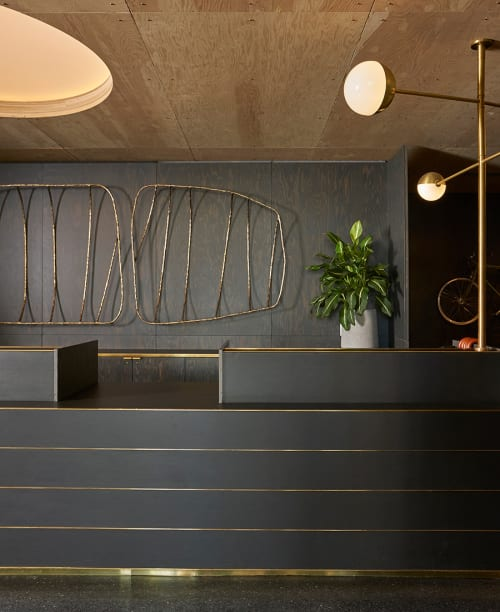 Sculptures by Steven Haulenbeek Studio seen at Ace Hotel Chicago, Chicago - Ace Fishbone Sculpture